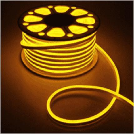 Светодиодная лента, неон 220В JL 2835-120 W IP65 желтый, герметичная, фото 2