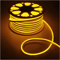 Светодиодная лента, неон 220В JL 2835-120 W IP65 желтый, герметичная