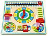"""Деревянный набор """"Часы и календарь"""" Viga toys (59872), фото 3"""