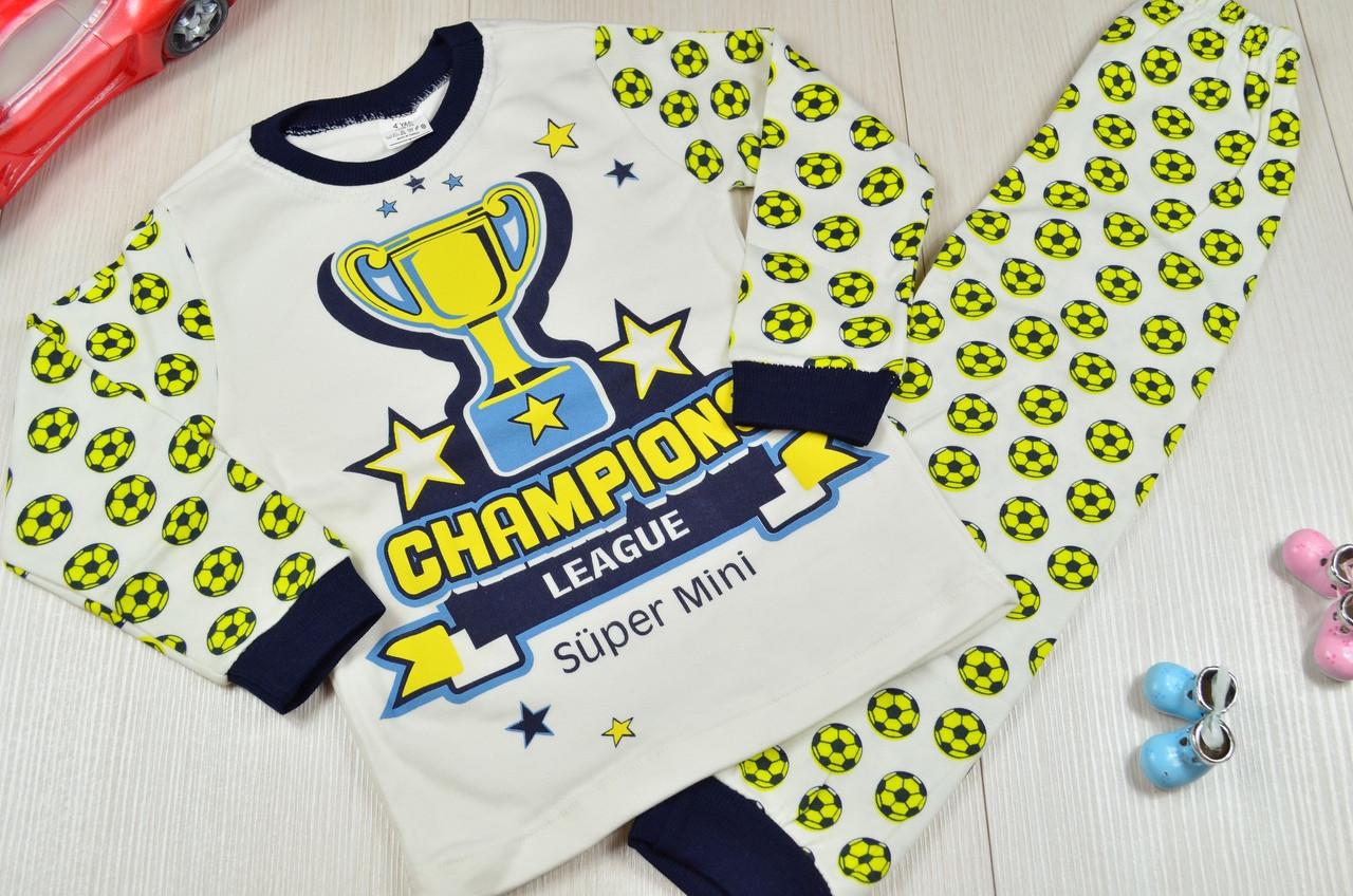 Пижама для мальчиков для мальчика хлопковая 4-6 лет