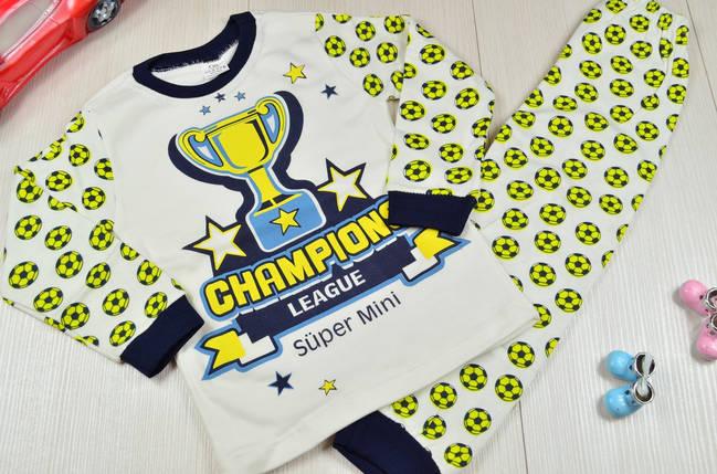 Пижама для мальчиков для мальчика хлопковая 4-6 лет, фото 2