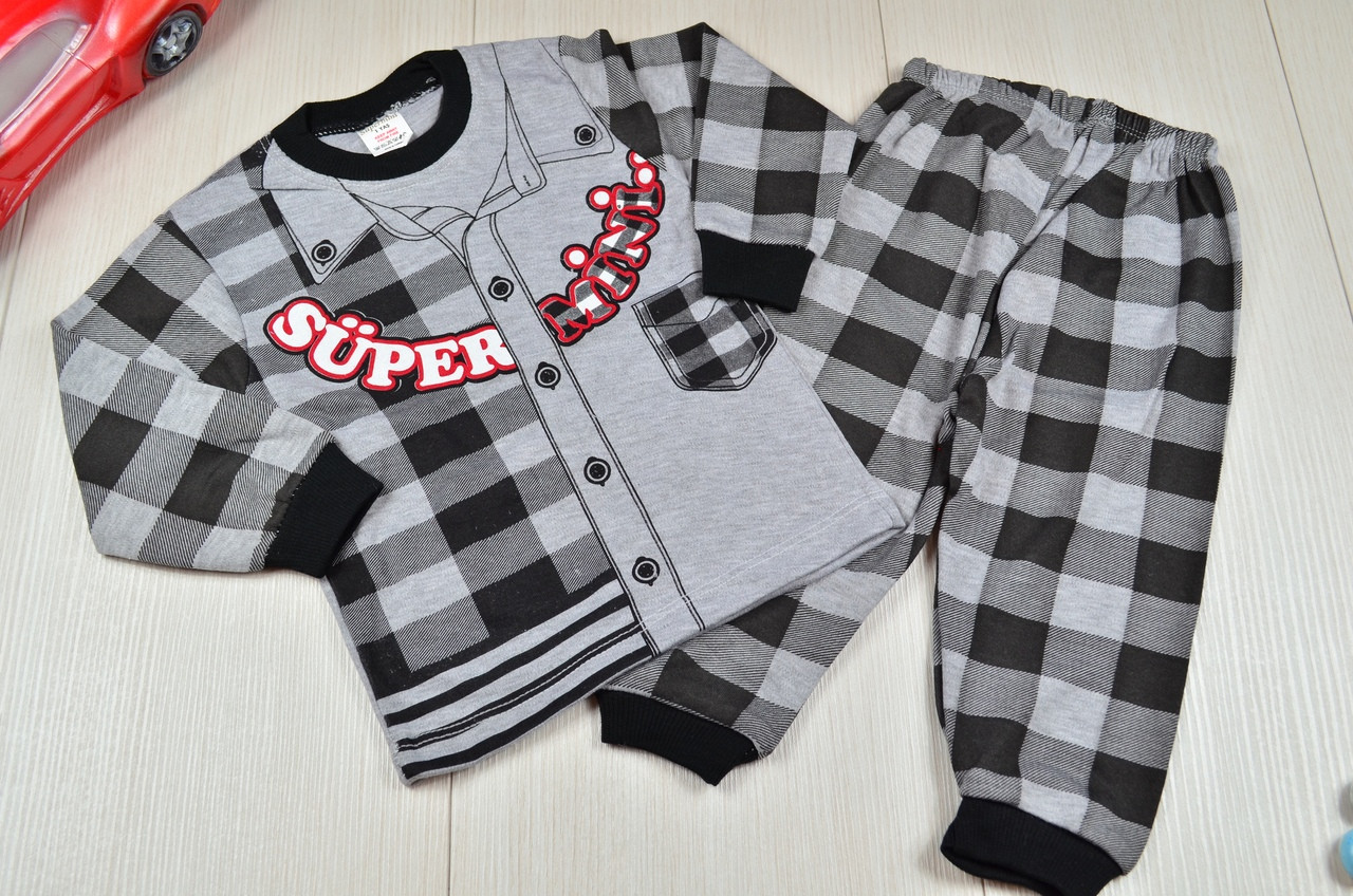 Пижама для мальчиков для мальчика хлопковая  1-3 года