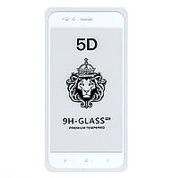 Защитное стекло 5D Full Glue для Xiaomi MI A1 / MI 5X White (Screen Protector 0,3 мм)