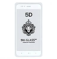 Защитное стекло 5D Full Glue для Xiaomi MI A1 / MI 5X White (Screen Protector 0,3 мм)