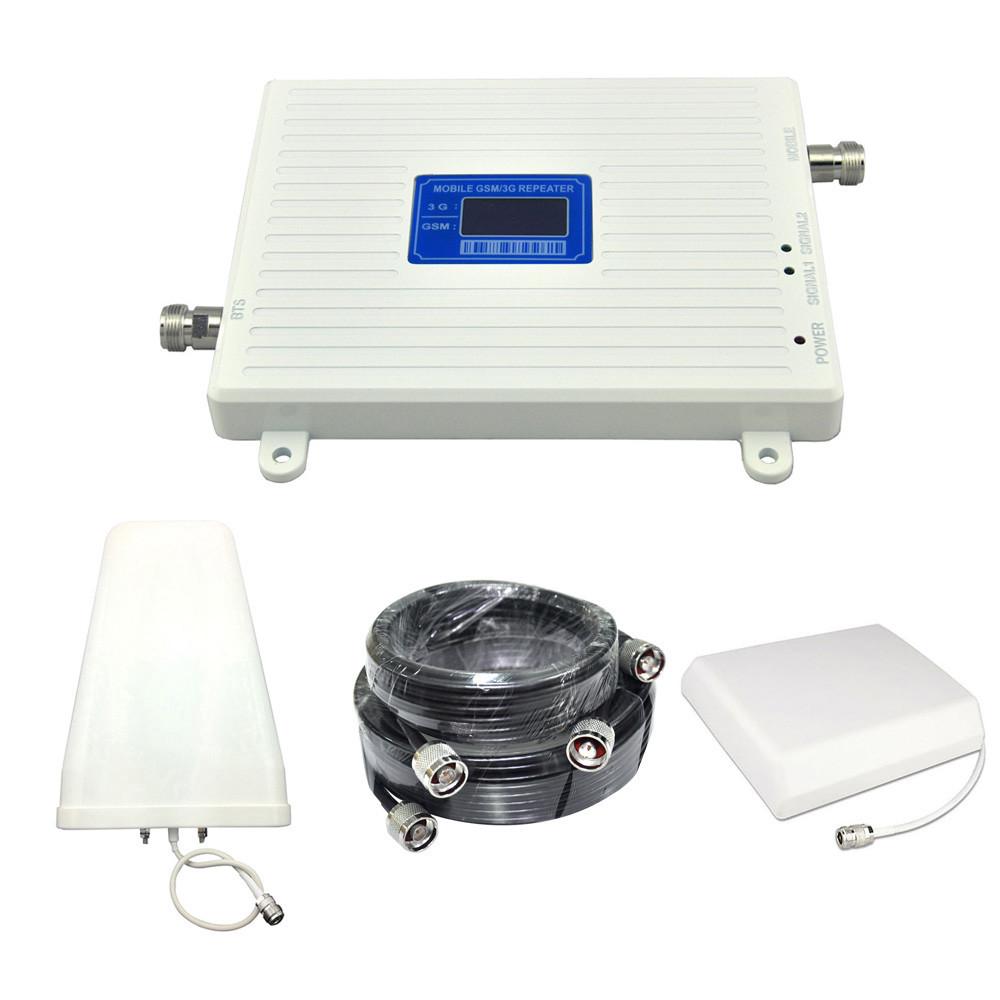 NEW! Підсилювач зв'язку та інтернету 900 МГц WCDMA - 2100 МГц з посиленими антенами