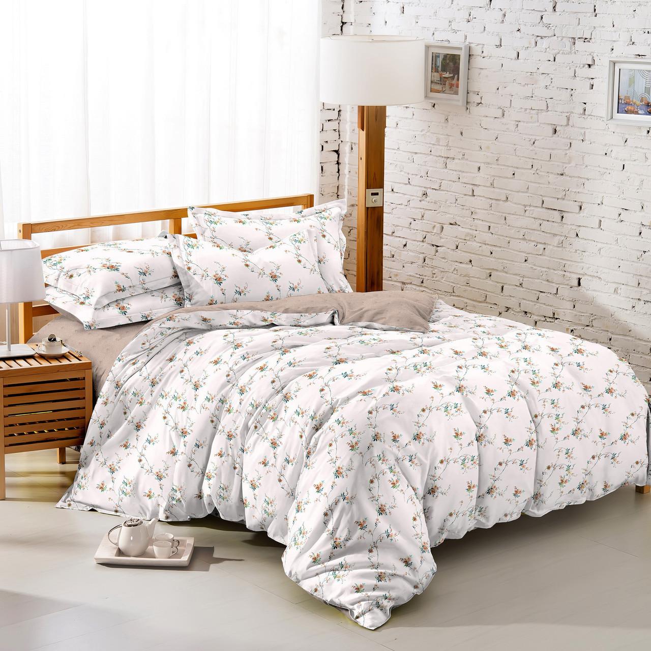 Полуторный комплект постельного белья 150*220 сатин (10056) TM КРИСПОЛ Украина