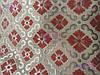 Скатерть с вышивкой и цветочками 110х150, люрексовая нитка.