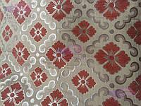 Скатерть с вышивкой и цветочками 110х150, люрексовая нитка., фото 1