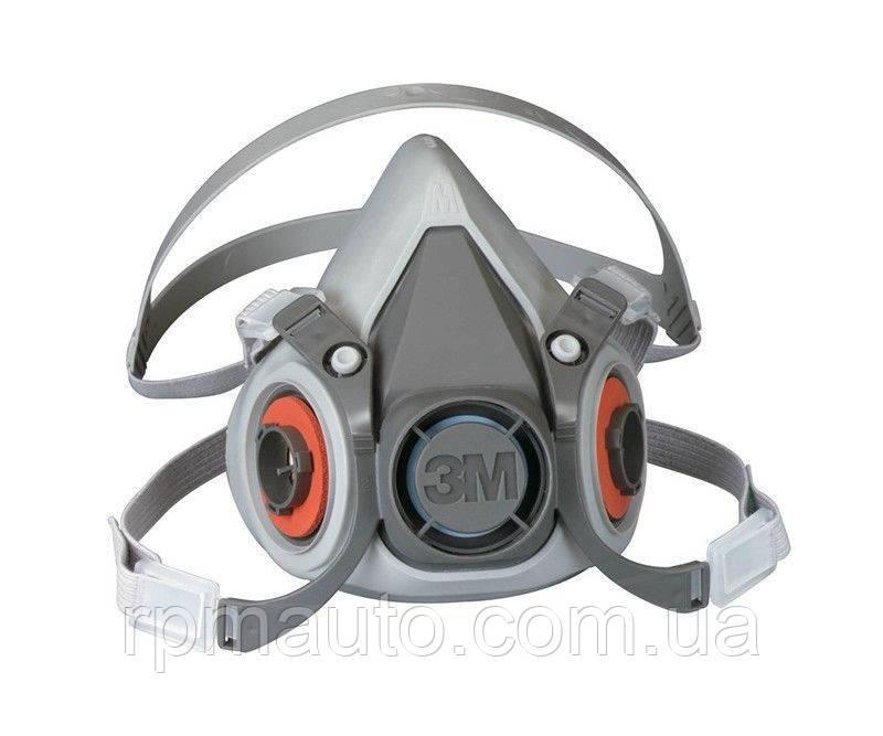 Напівмаска 3М 6300 розмір L Гумова Респіратор для Фарбування Захисна Маска від Пилу Клапан Видиху FFP1 Захист