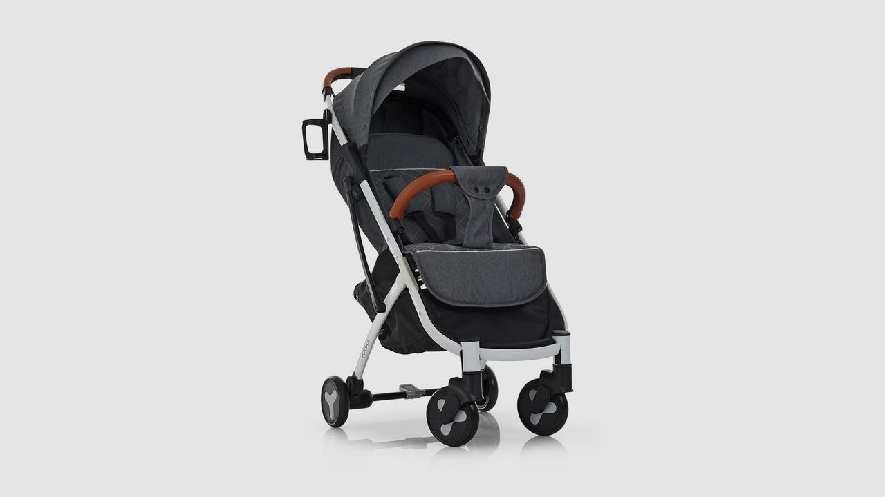 Коляска детская YOGA II прогулочная коляска-книжка. Серого цвета.