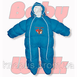 "Зимний пуховый комбинезон – трансфоромер ""Baby Walk"" , Ontario Baby Голубой"