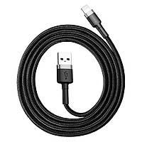 Кабель Lighting, Baseus, Kevlar 1m Cable USB-Lighting Black BS-6063