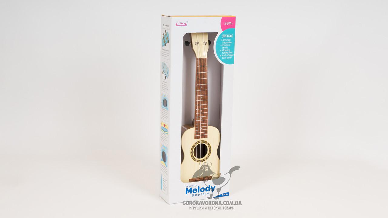 Детская 4 струнная гитара из пластика