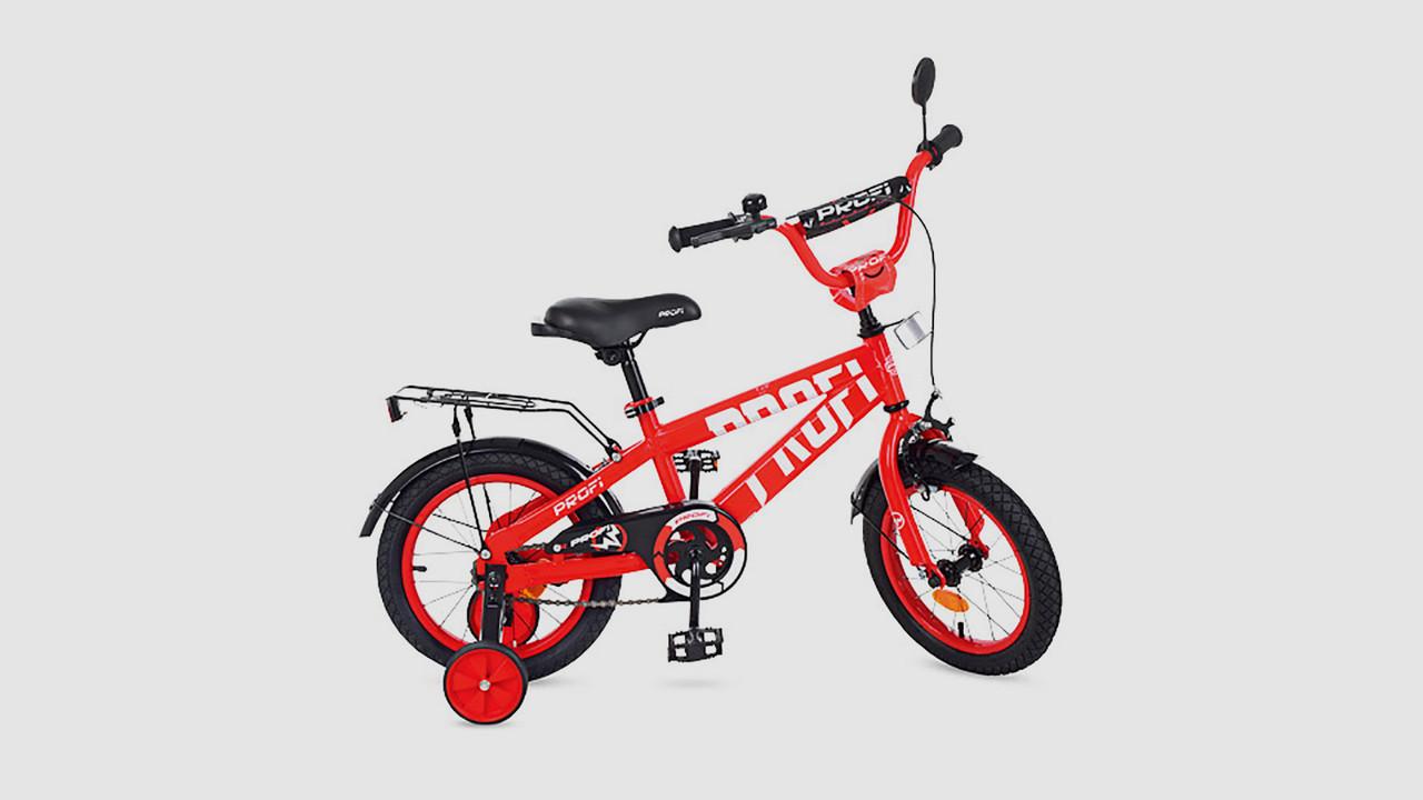 Велосипед детский PROFI FLASH. 14 дюймовые колеса. Красного цвета