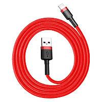 Кабель Lighting, Baseus, Kevlar 1m Cable USB-Lighting Red/Red BS-6061