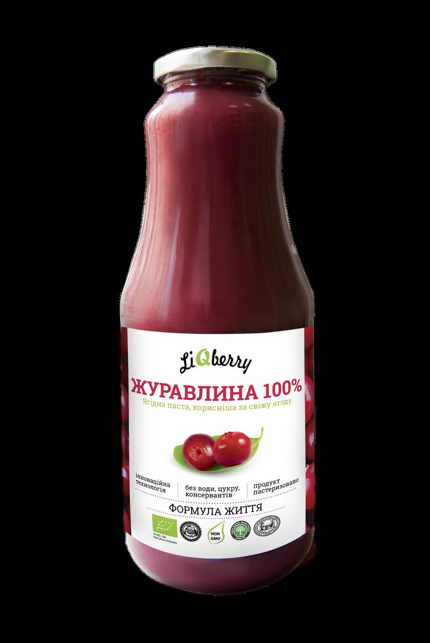 Клюквенная паста liqberry полезна для мочеполовой системы LiQberry 1 л