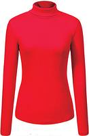Водолазка женская Glostory красная