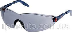 Защитные очки 3М 2741 солнцезащитные серые дымчатые AS / AF