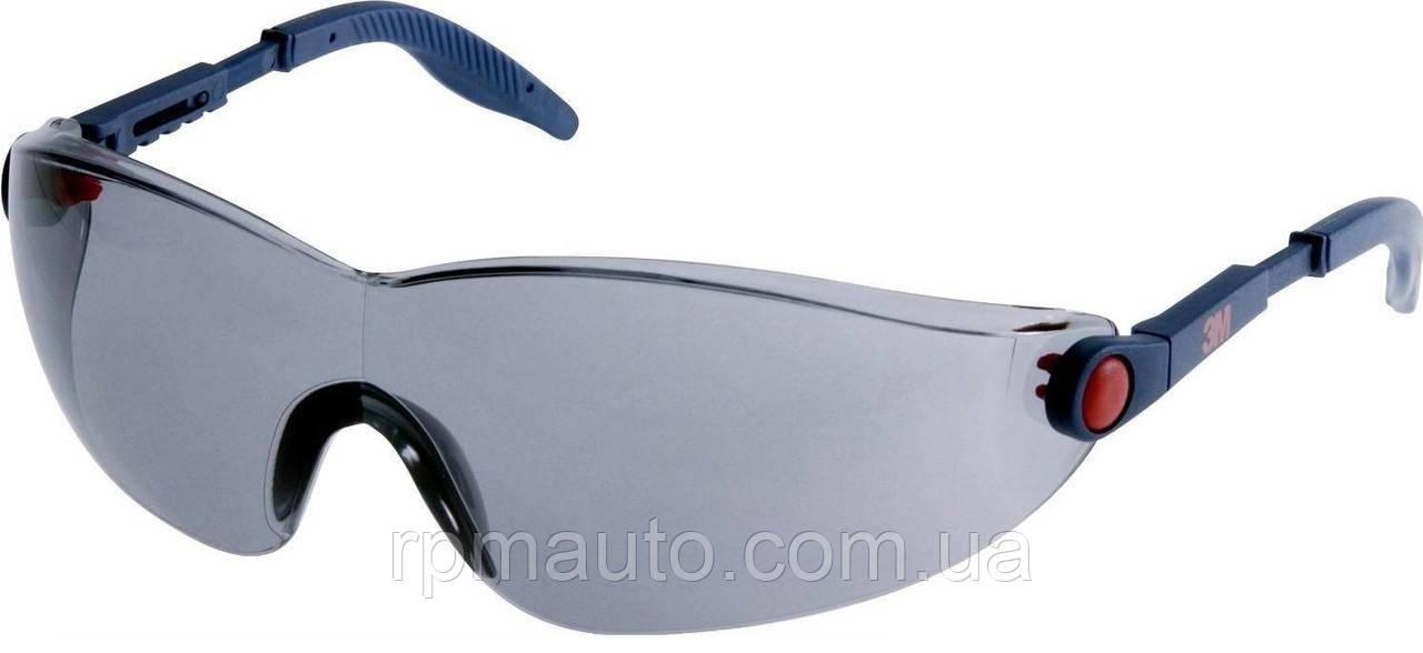 Захисні окуляри 3М 2741 сонцезахисні сірі димчасті AS / AF