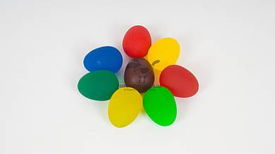 Мячик-прыгун в форме яйца. Из каучука. Микс цветов