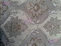 Скатерть с вышивкой и цветочками 130х180, люрексовая нитка., фото 1