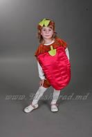 Карнавальный костюм Перец, сладкий перец, красный (велюровый)