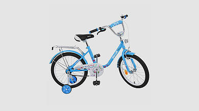 Велосипед детский PROFI FLOWER. 18 дюймовые колеса. Голубого цвета