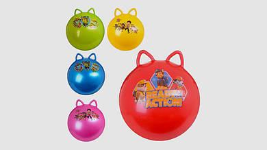 Мяч для фитнеса-фитбол с ушками. PROFI MS 1583-1. Диаметр 50 см. 5 цветов. Без насоса