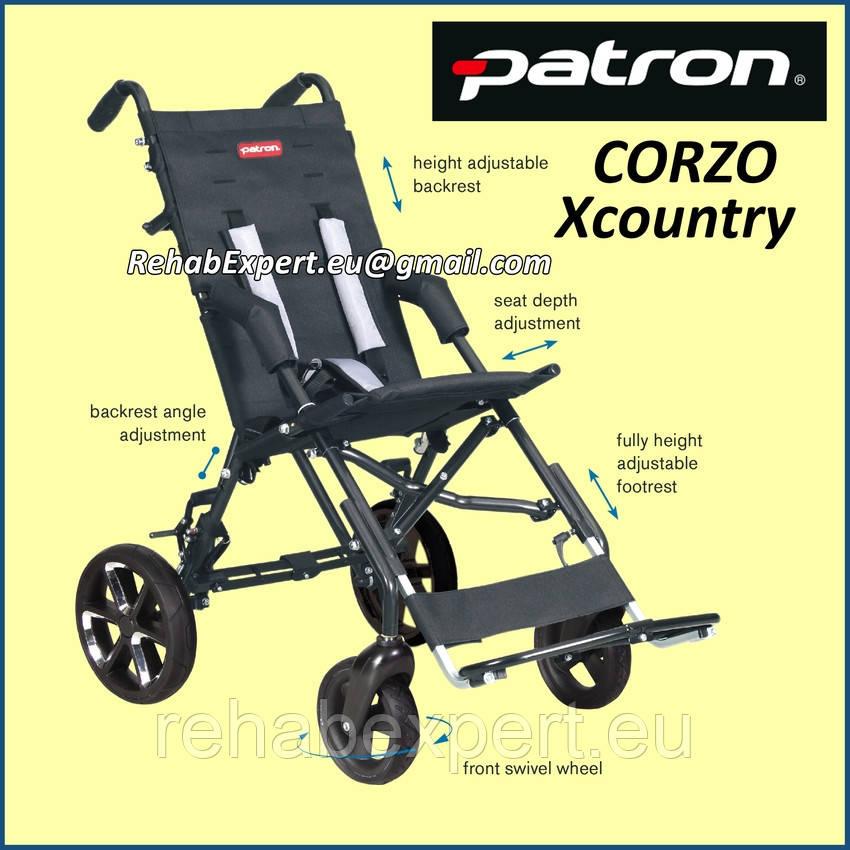 Специальная коляска для детей с ДЦП Patron CORZO XcountryRehab Buggy CRX 34
