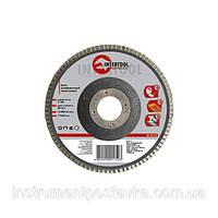 Диск шлифовальный лепестковый 115*22мм зерно K120, INTERTOOL BT-0112