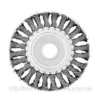 Щетка дисковая из плетеной проволоки 115*22.2мм