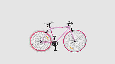 Велосипед PROFI FIX. 28 дюймовые трековые колеса 700-23с. Розового цвета