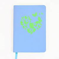 Книга записная Leo planner Butterfly A6, 80 л., точка, синий (151289)