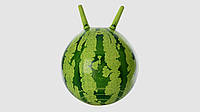 Мяч для фитнеса-фитбол с рожками. Арбуз PROFI MS 0473. Диаметр 38 см.Без насоса