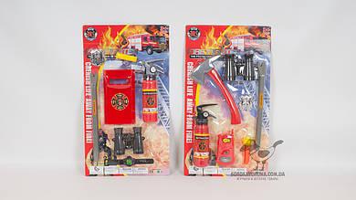 Набор пожарника. В комплекте - огнетушитель: лом: бинокль. 2 вида