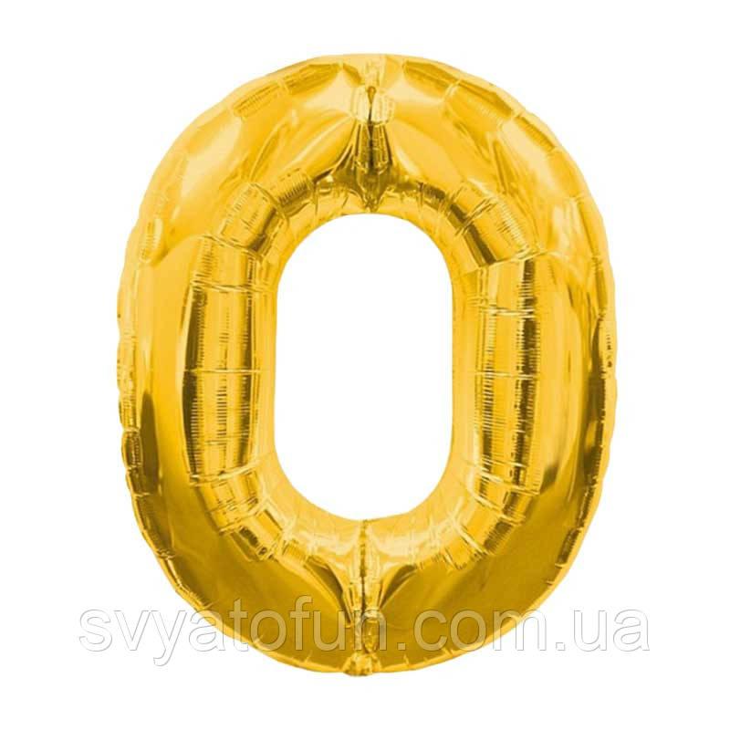 Фольгированный шар-цифра 0 золото 70 см Китай