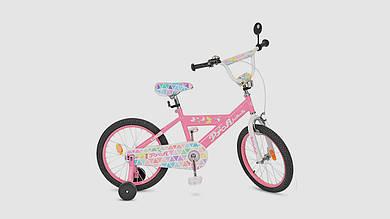 Велосипед детский PROF BUTTERFLY. 18 дюймовые колеса. Розового цвета