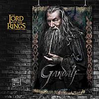 Постер Гендальф. Властелин Колец, Lord Of The Rings, Хоббит, Hobbit. Размер 60x40см (A2). Глянцевая бумага