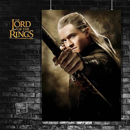 Постер Эльф Леголас. Властелин Колец, Lord Of The Rings, Хоббит, Hobbit (60x85см), фото 2