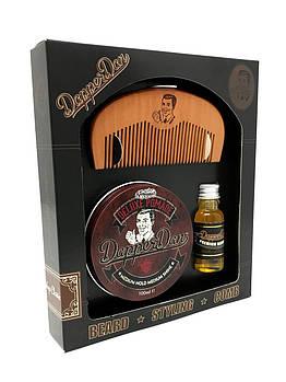 Набор (гребень, масло д/бороды 15мл, делюкс помада 100гр) - Dapper Dan Hairy Man Combo Deluxe Pomade