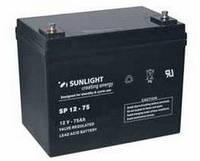 Аккумулятор SUNLIGHT SP12-75, 12В 75 А*ч