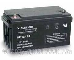 Аккумулятор SUNLIGHT SP12-80, 12В 80 А*ч