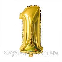 Фольгированный шар-цифра 1 золото 35 см Китай
