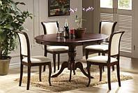 Стол обеденный деревянный Olivia 106*106  темный орех signal