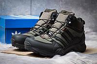 Зимние ботинки на меху Adidas Terrex Gore Tex, хаки (30515),  [  43 (последняя пара)  ]