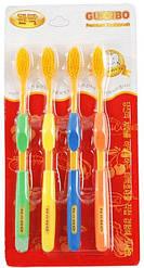 Набір зубних щіток з бамбуковим вугільним напиленням - 4шт Корея