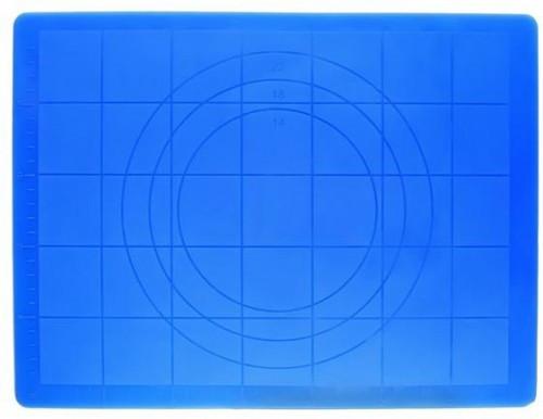 Коврик кондитерский силиконовый с разметкой 45*35 см (цвет коврика в ассортименте)