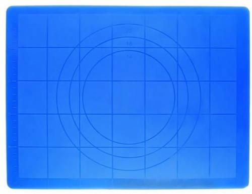 Коврик кондитерский силиконовый с разметкой 45*35 см (цвет коврика в ассортименте), фото 2