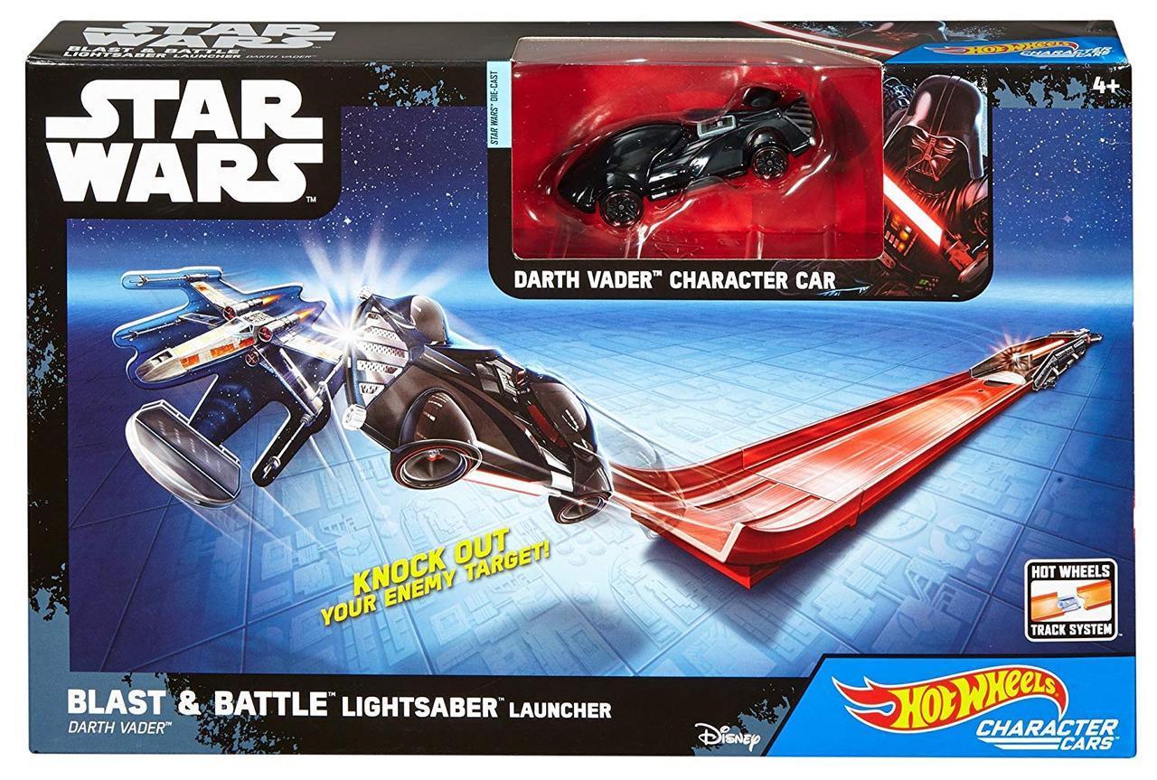 Трек Хот вилс и машинка атакующий взлет Звездные Войны  Hot Wheels Star Wars