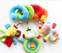 Подвесная развивающая игрушка растяжка спираль мобиль погремушка іграшка